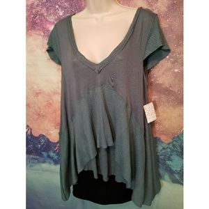 ♡NWT♡ Free People V-neck Blouse